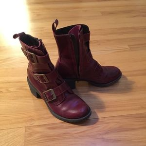 Dark red leather Doc Marten boots, size 6.5